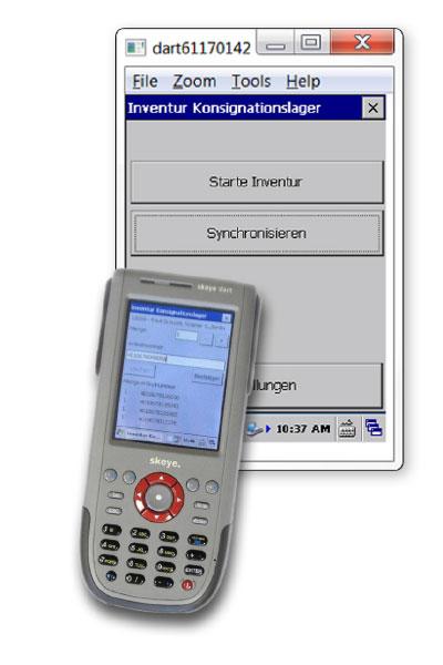 Inventur in drei Schritten: Die übersichtliche Bedienoberfläche der oxaion Inventur-App erleichtert den JUZO-Außendienstmitarbeitern die Verwaltung der Konsignationsläger vor Ort.