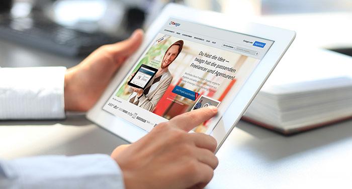 Marktplatz vermittelt online Arbeit an Freiberufler