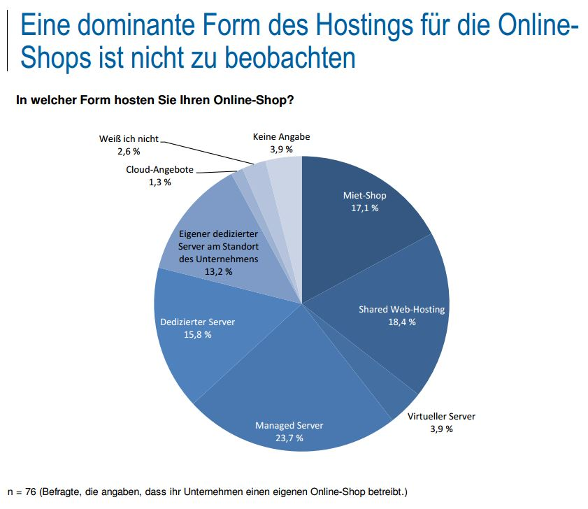 studie ibi research Hosting Onlineshops