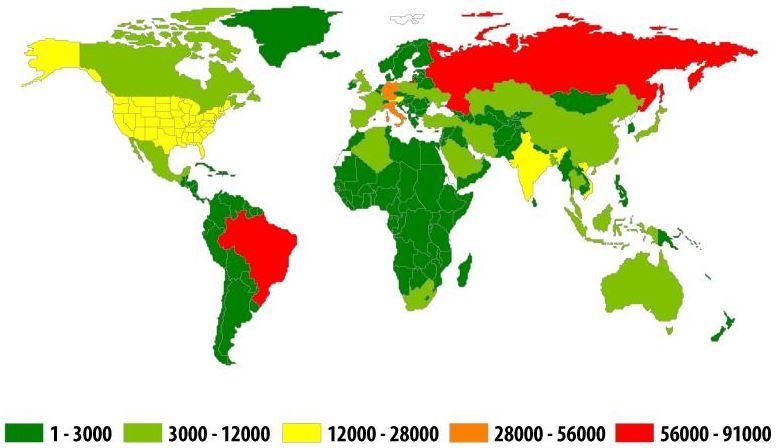 trend kasperky Q3 2014 geografie der Attacken von Bankschaedlingen