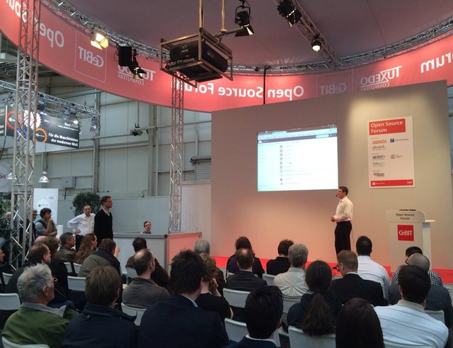 foto open sorce forum OSB alliance Cebit