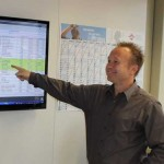 Volle Kontrolle der Produktion durch Martin Steis (rechts in Bild).