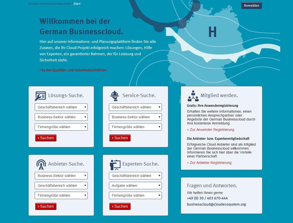 screenshot Die German Businesscloud