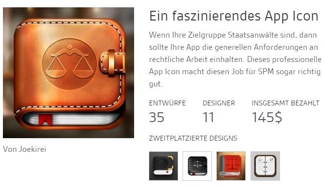screen (c) 99designs app icon