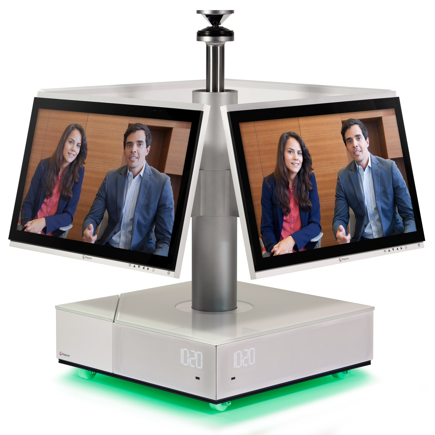 foto polycom Centro with 2 people on screen