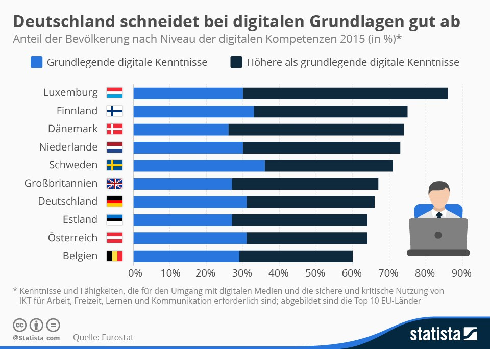 grafik statista digitale kenntnisse eu