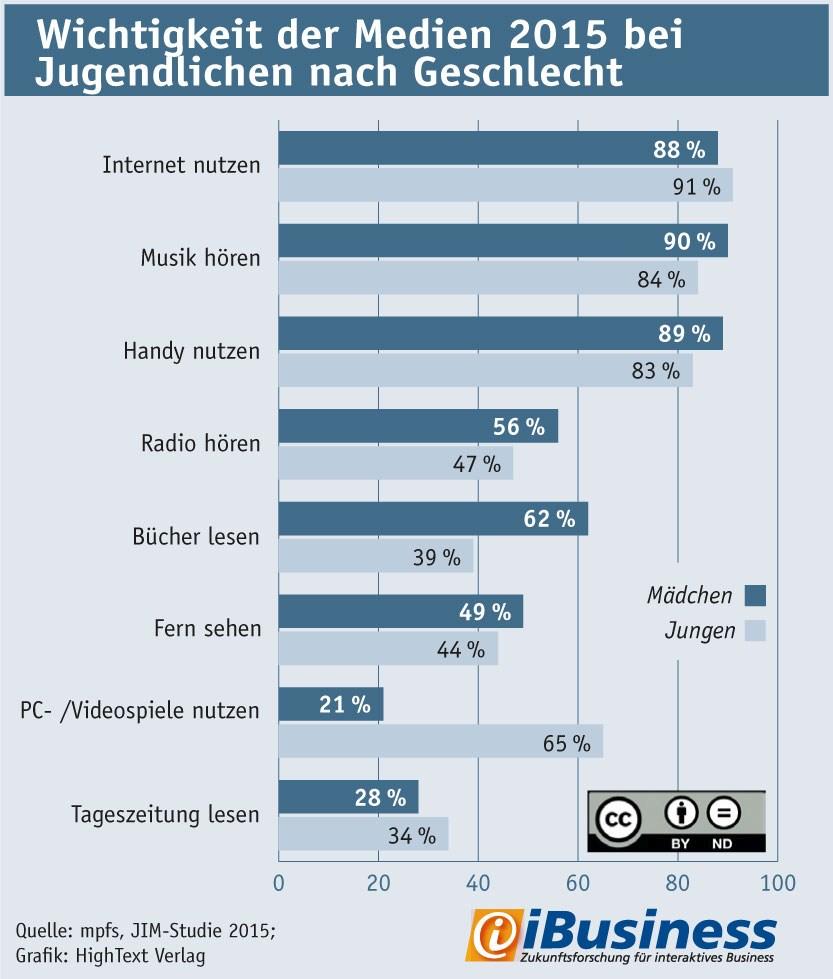 grafik ibusiness mpfs wichtigkeit der medien jugendliche