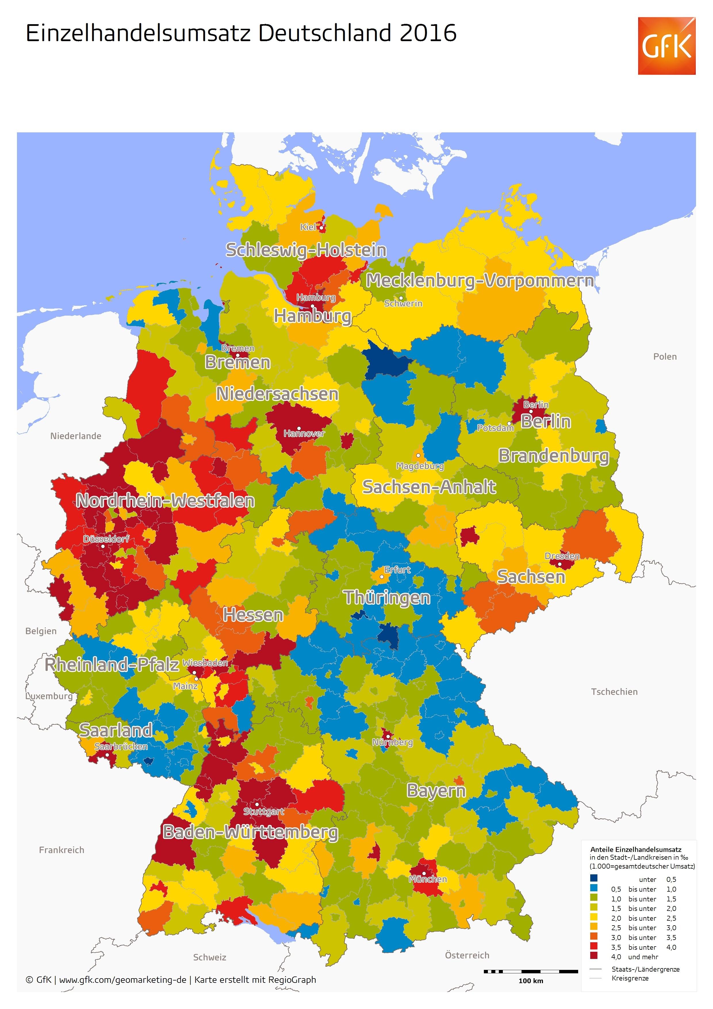 grafik gfk einzelhandelsumsatz deutschland 2016