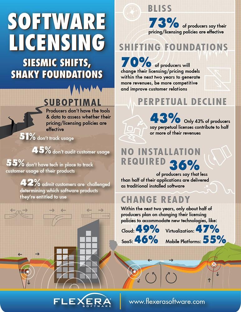 infografik flexera software lizenzierung