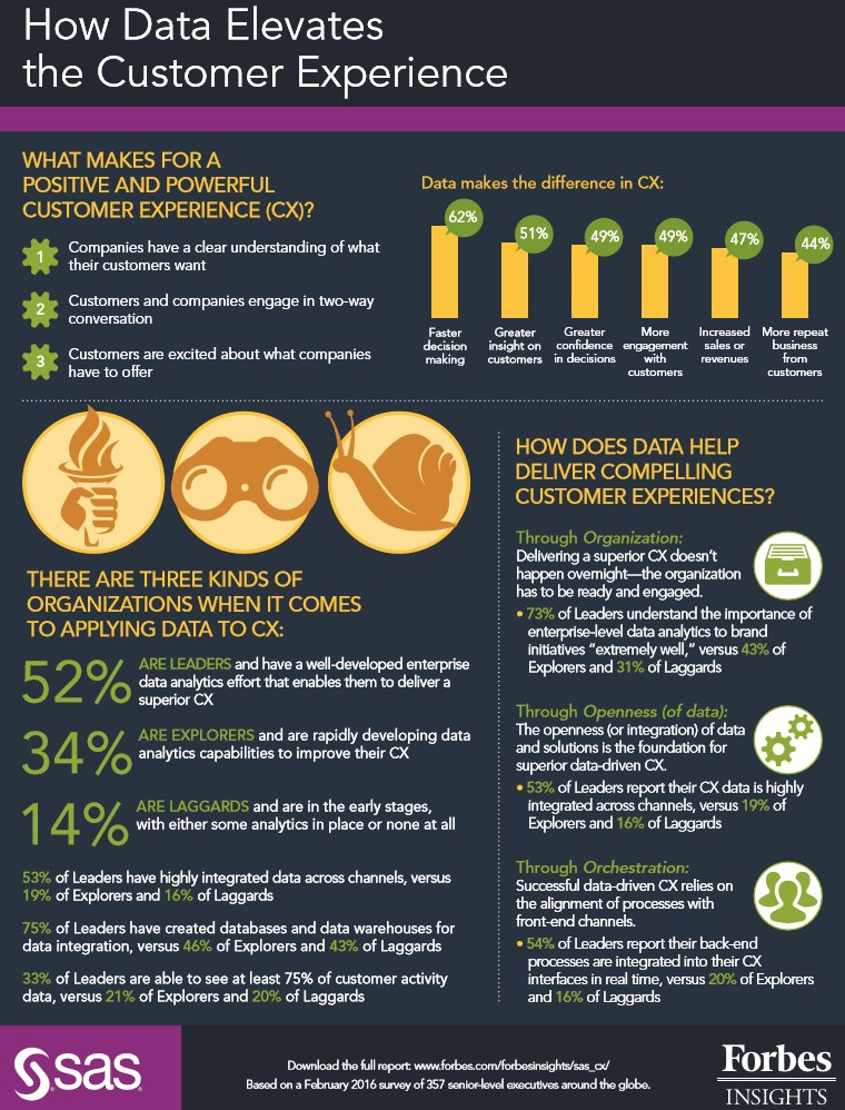 infografik sas datengetriebene customer experience