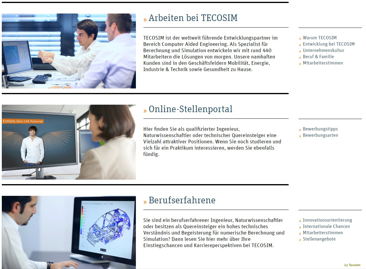 screen (c) tecosim stellenportal