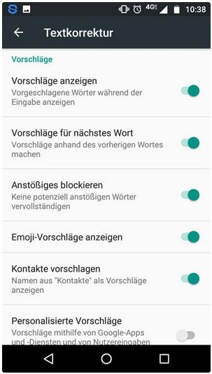 vorgeschlagene apps deaktivieren