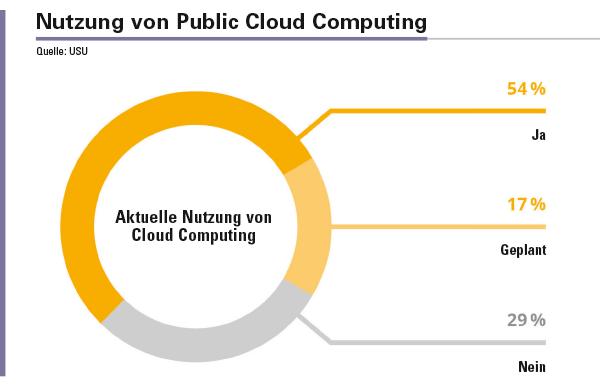 Abbildung 1: Die Nutzung von Public Cloud Computing Services wird in Zukunft weiter wachsen.