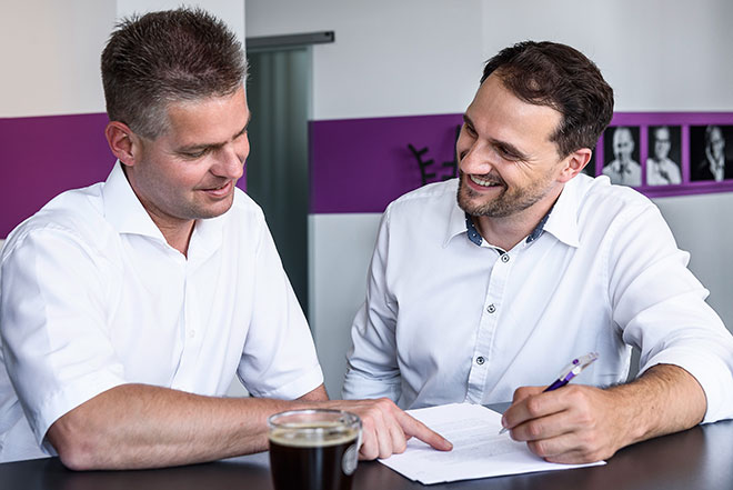 Experten im Gespräch: Peter Klien (links) und Bernd Länge (rechts).