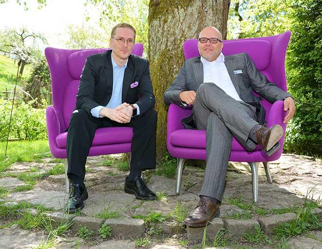 Der »berühmteste Virenjäger Europas«, Mikko Hypponen (links), Chief Research Officer von F-Secure bezeichnet WannaCry als »den größten Ransomware-Ausbruch in der Geschichte«. Rechts Frank Müller, Vorstand der AXSOS AG.