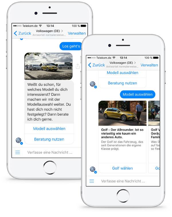 Gemeinsam mit einem umfassenden Relaunch der Website autosuche.de und flankiert von Werbemaßnahmen konnte Autosuche-Chatbot von Volkswagen die Anzahl der Unique Users nahezu verdoppelt.