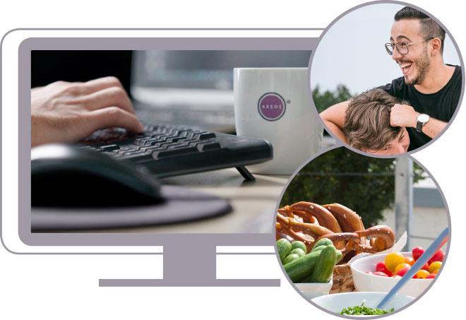 Auf den neuen Seiten der AXSOS AG werden Leistungen, soziales Engagement sowie die Verbindung zwischen Küche und IT ganzheitlich erklärt.