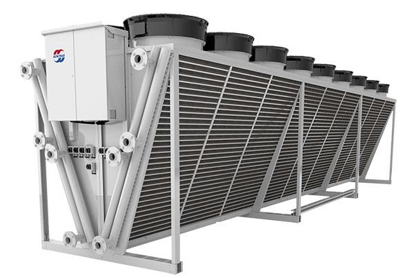 Abbildung 2: Technotrans-Freikühler (Wasserkühler) in V-Shape-Bauweise.