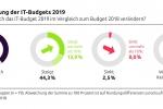 IT-Budgets 2019: Jeder vierte Euro fließt in die Digitalisierung
